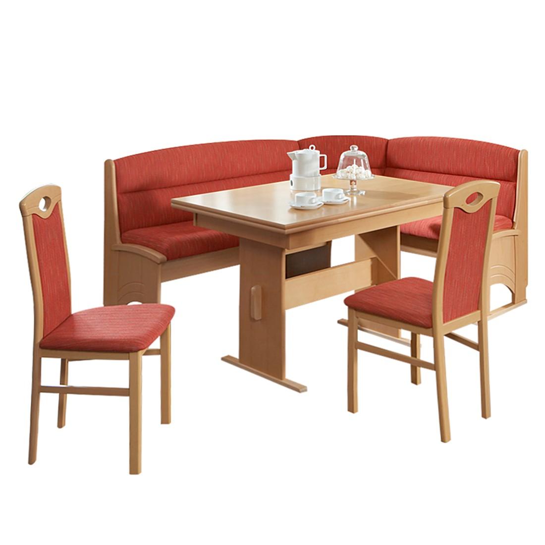 eckbankgruppe benno 4 teilig buche dekor strukturstoff. Black Bedroom Furniture Sets. Home Design Ideas