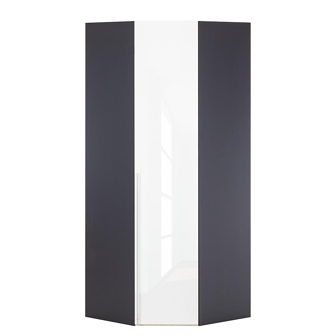 Eckschrank Melva – Graphit/LackWeiß – BxH: 92,3 x 216 cm, Solutions günstig kaufen