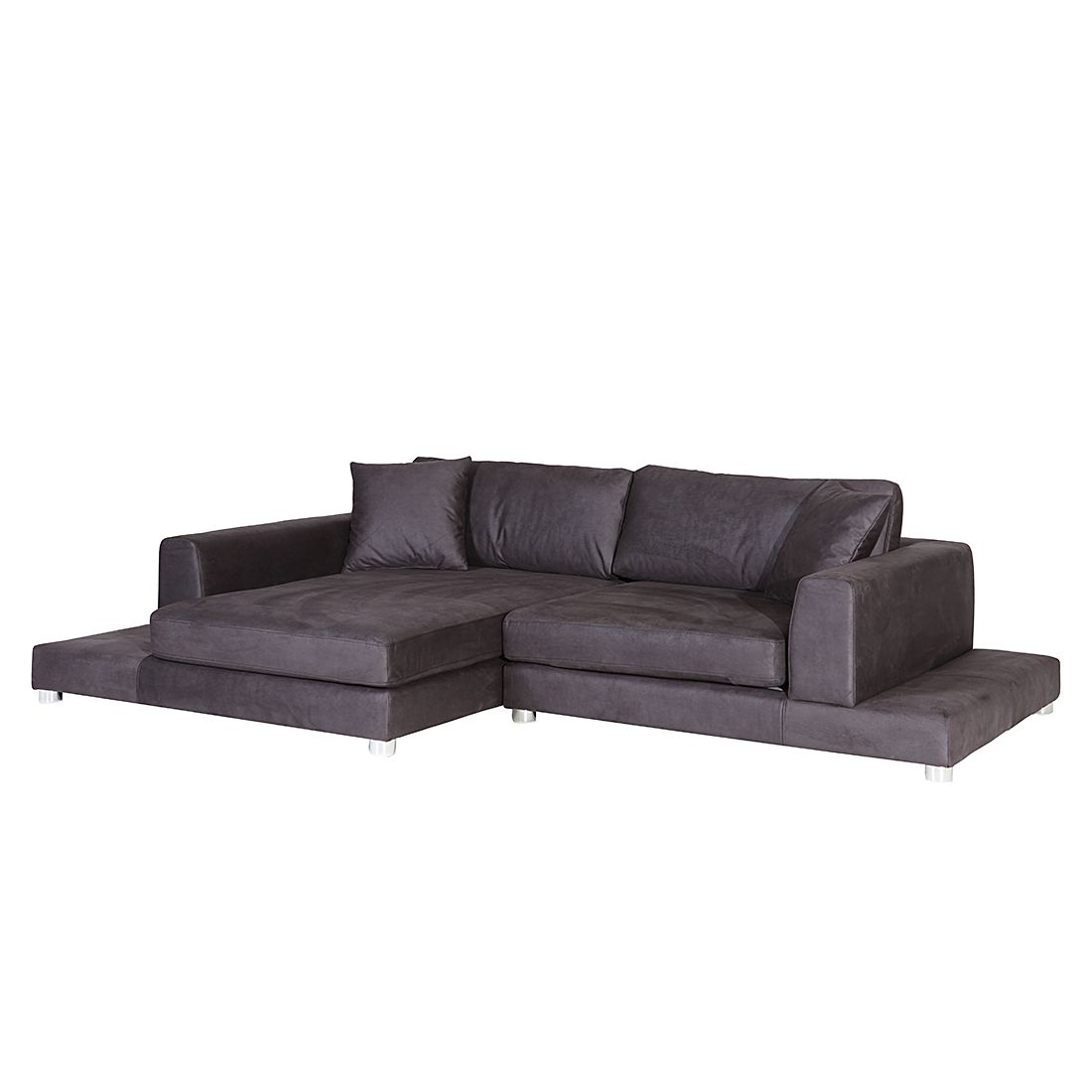 ecksofa alea klein kunstleder grau longchair. Black Bedroom Furniture Sets. Home Design Ideas