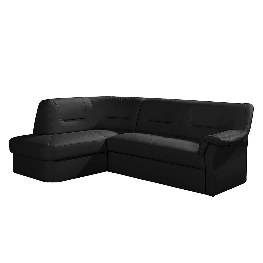 ecksofa badalona mit schlaffunktion kunstleder schwarz. Black Bedroom Furniture Sets. Home Design Ideas