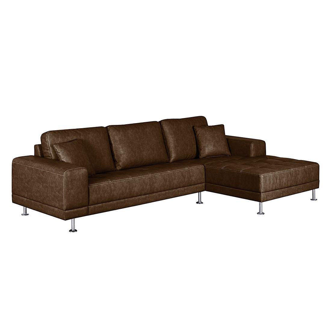 ecksofa benni kunstleder longchair ottomane. Black Bedroom Furniture Sets. Home Design Ideas