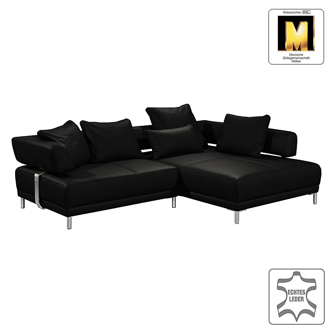 ecksofa casual line ii echtleder longchair ottomane. Black Bedroom Furniture Sets. Home Design Ideas