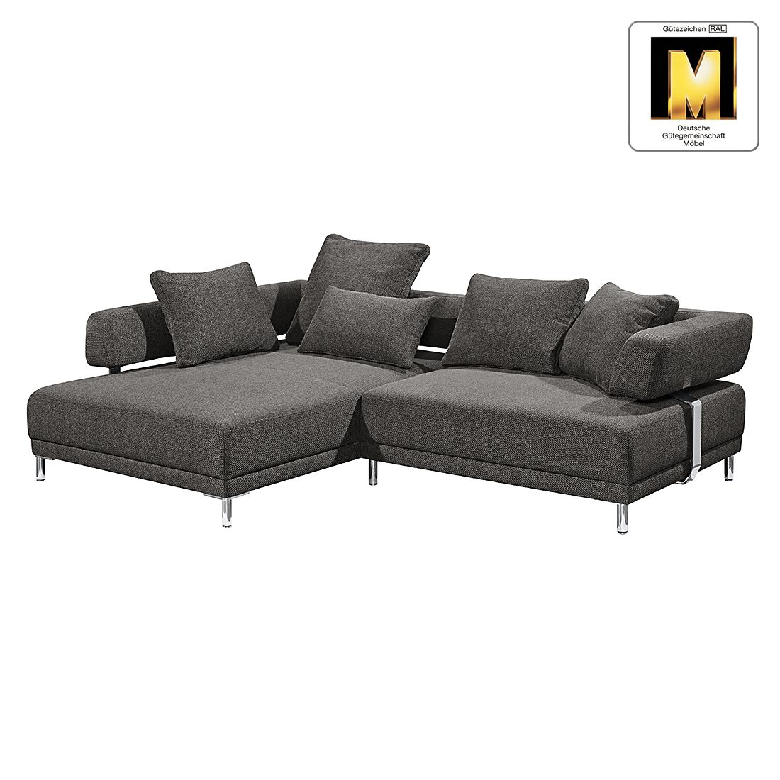 ecksofa casual line ii strukturstoff longchair ottomane davorstehend links manueller. Black Bedroom Furniture Sets. Home Design Ideas