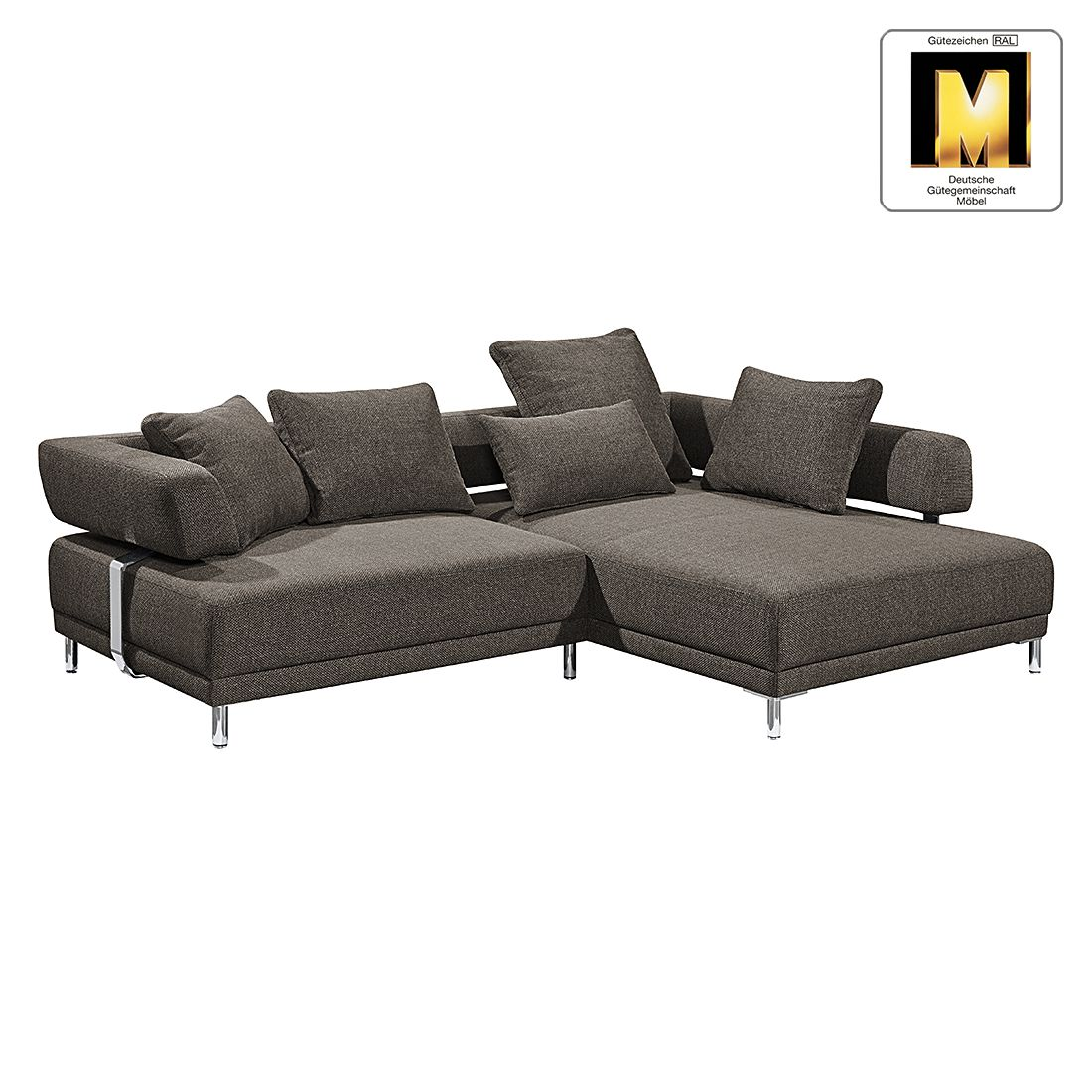 ecksofa casual line ii strukturstoff longchair ottomane. Black Bedroom Furniture Sets. Home Design Ideas