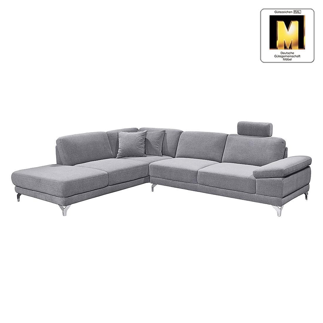 sofa casual line 3 sitzer velours verstellbare. Black Bedroom Furniture Sets. Home Design Ideas