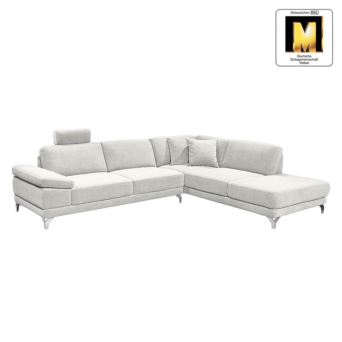 sofa casual line 2 5 sitzer strukturstoff verstellbare armlehnen hellgrau claas claasen. Black Bedroom Furniture Sets. Home Design Ideas