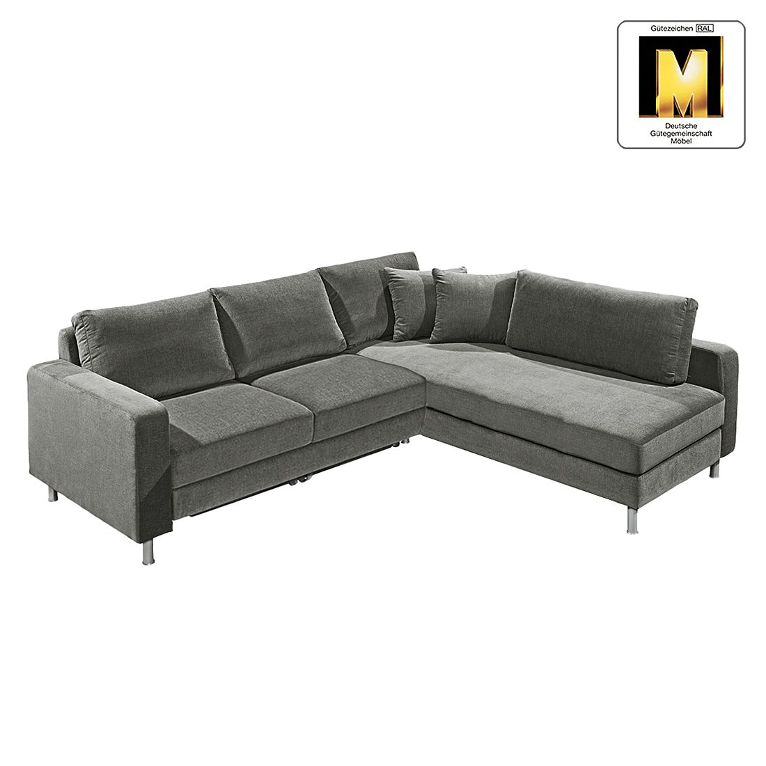 ecksofa casual line vi mit schlaffunktion velours. Black Bedroom Furniture Sets. Home Design Ideas