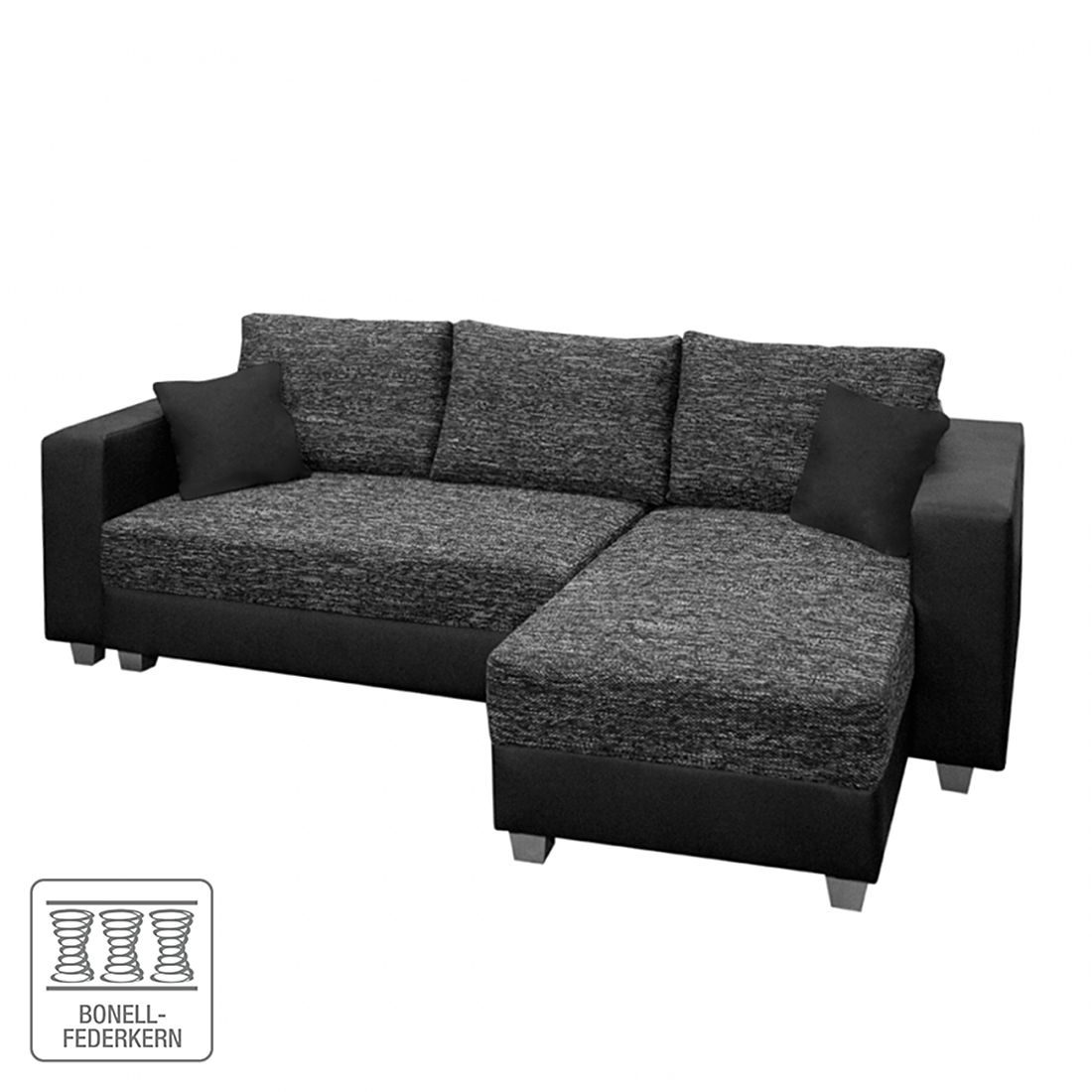 schlafsofa sleepster strukturstoff grau kunstleder taupe mooved g nstig online kaufen. Black Bedroom Furniture Sets. Home Design Ideas