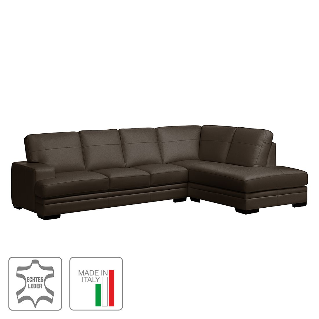 ecksofa fontienne echtleder longchair ottomane. Black Bedroom Furniture Sets. Home Design Ideas