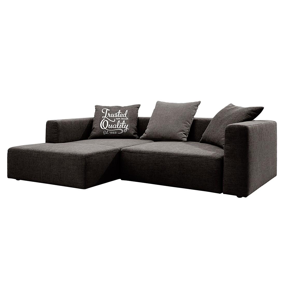 Ecksofa Heaven Casual – Webstoff Braun – Longchair davorstehend links – Ohne Schlaffunktion, Tom Tailor günstig online kaufen