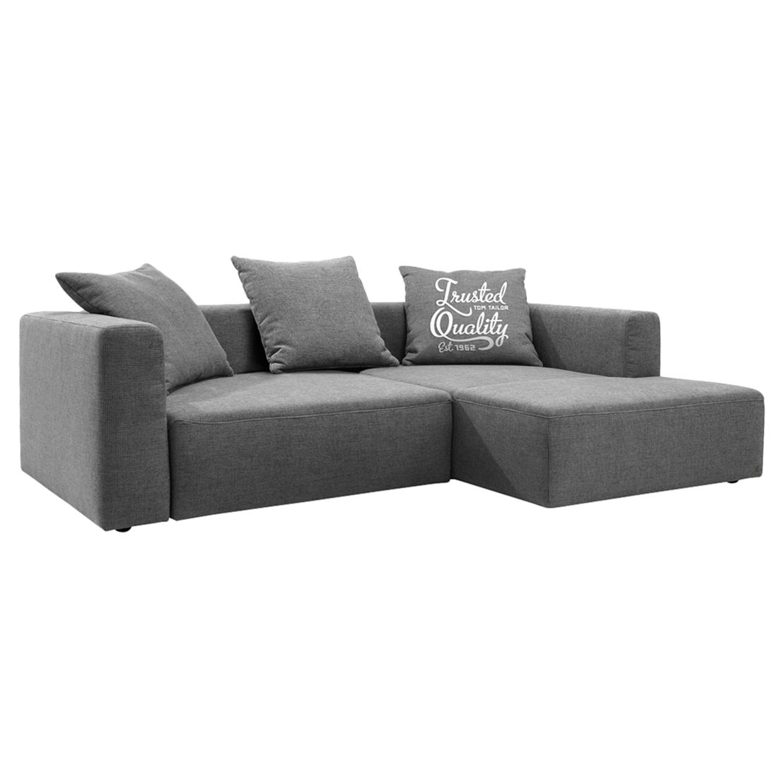 Ecksofa heaven casual webstoff dunkelgrau longchair for Ecksofa trends