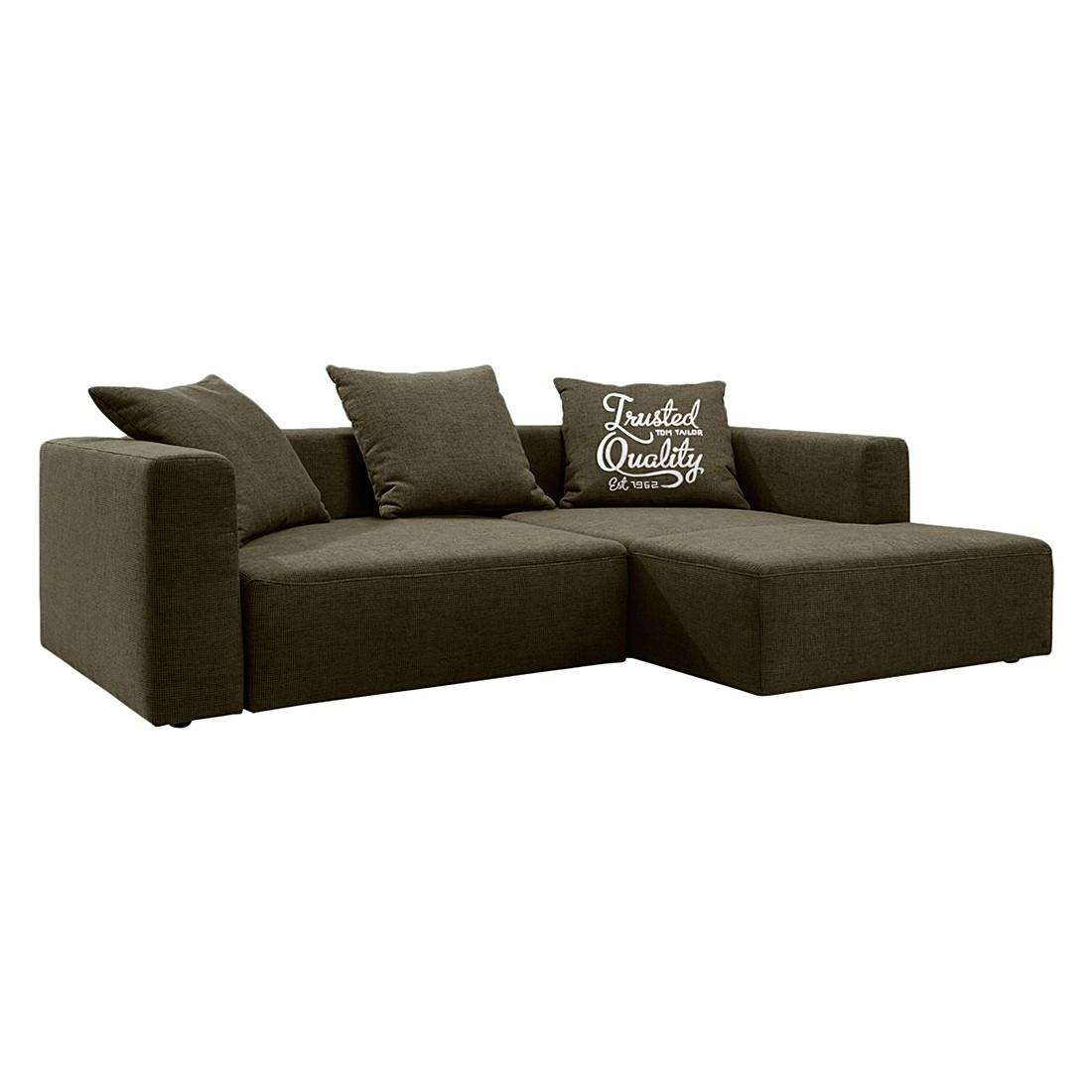 Ecksofa Heaven Casual XL - Webstoff - Longchair/Ottomane davorstehend rechts - Ohne Schlaffunktion - Braun, Tom Tailor