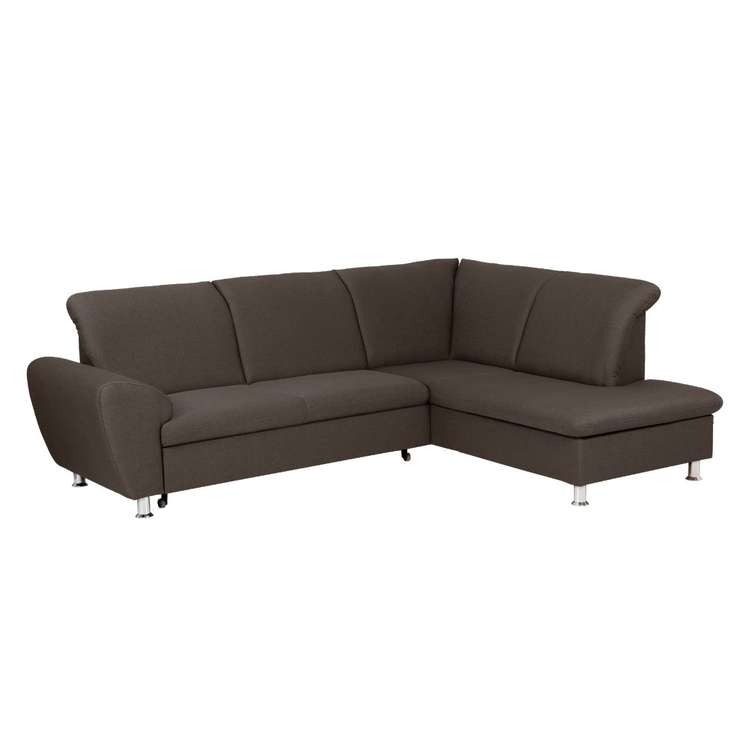 ecksofa july mit schlaffunktion webstoff braun. Black Bedroom Furniture Sets. Home Design Ideas