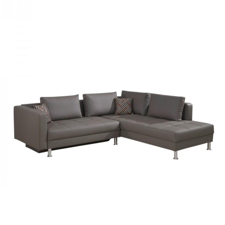 ecksofa ladia grau schlaffunktion spirinha online kaufen. Black Bedroom Furniture Sets. Home Design Ideas