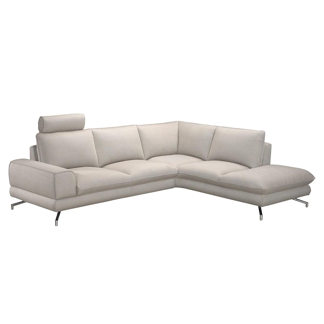 ecksofa lennard strukturstoff beige ottomane davorstehend rechts loftscape online kaufen. Black Bedroom Furniture Sets. Home Design Ideas