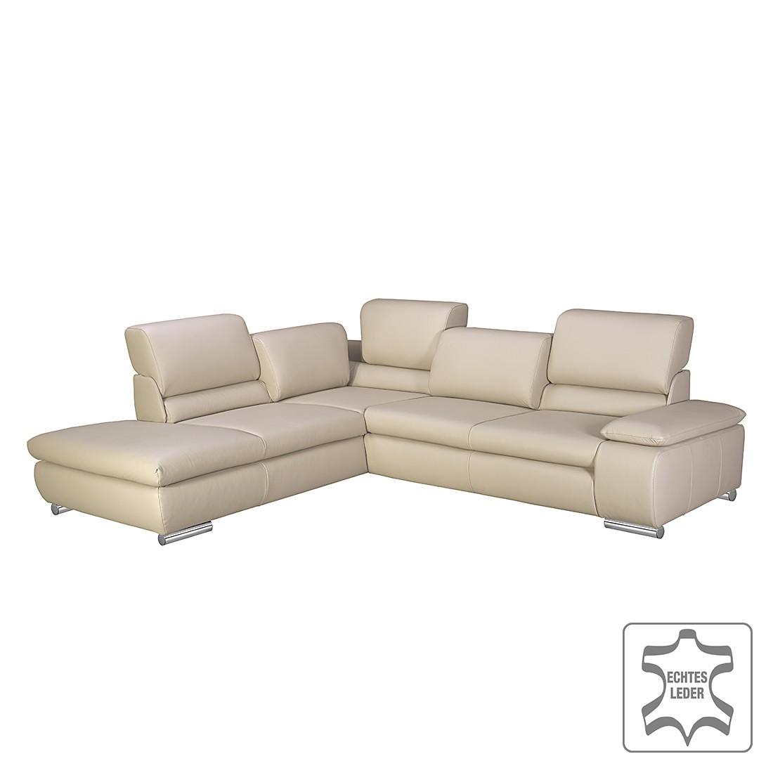 ecksofa masca echtleder beige ottomane davorstehend links ohne schlaffunktion loftscape. Black Bedroom Furniture Sets. Home Design Ideas