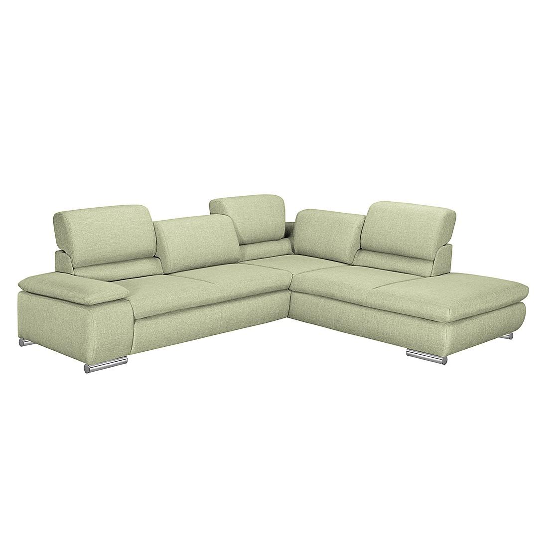 ecksofa masca webstoff gr n ottomane davorstehend rechts ohne schlaffunktion loftscape. Black Bedroom Furniture Sets. Home Design Ideas
