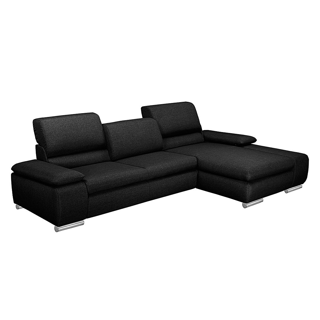 ecksofa masca webstoff schwarz longchair davorstehend rechts ohne schlaffunktion. Black Bedroom Furniture Sets. Home Design Ideas