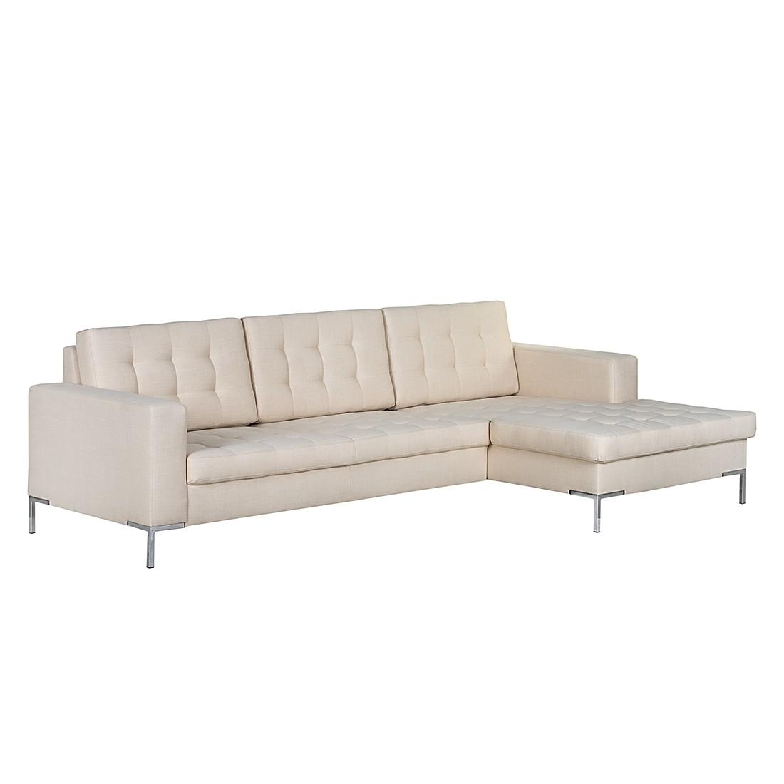 ecksofa nistra webstoff longchair ottomane davorstehend rechts beige fredriks bestellen. Black Bedroom Furniture Sets. Home Design Ideas