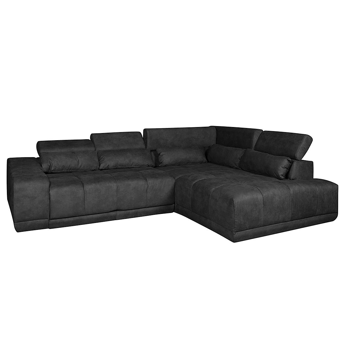 ecksofa paces mit relaxfunktion microfaser longchair ottomane davorstehend rechts. Black Bedroom Furniture Sets. Home Design Ideas