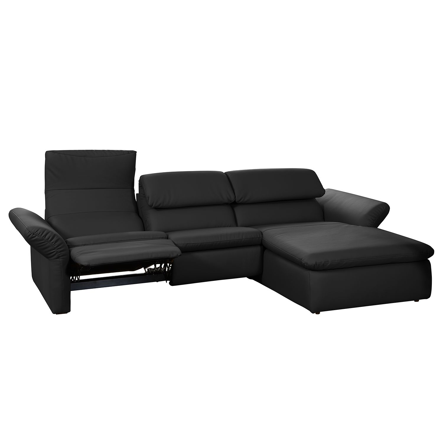ecksofa cleos schwarz amp grau ottomane rechts ecksofa. Black Bedroom Furniture Sets. Home Design Ideas