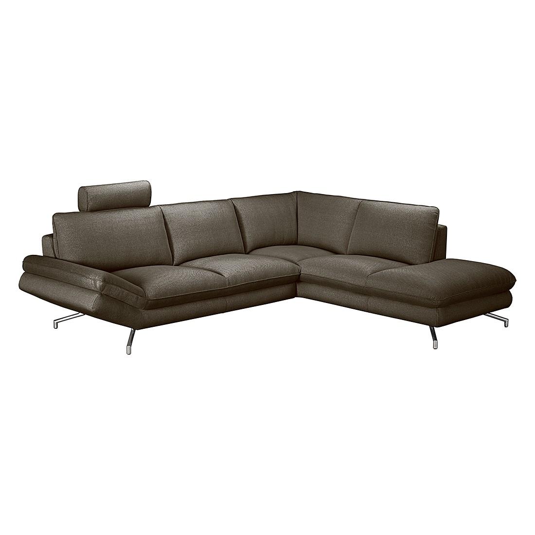 ecksofa sharon strukturstoff grau braun ottomane davorstehend rechts loftscape g nstig kaufen. Black Bedroom Furniture Sets. Home Design Ideas