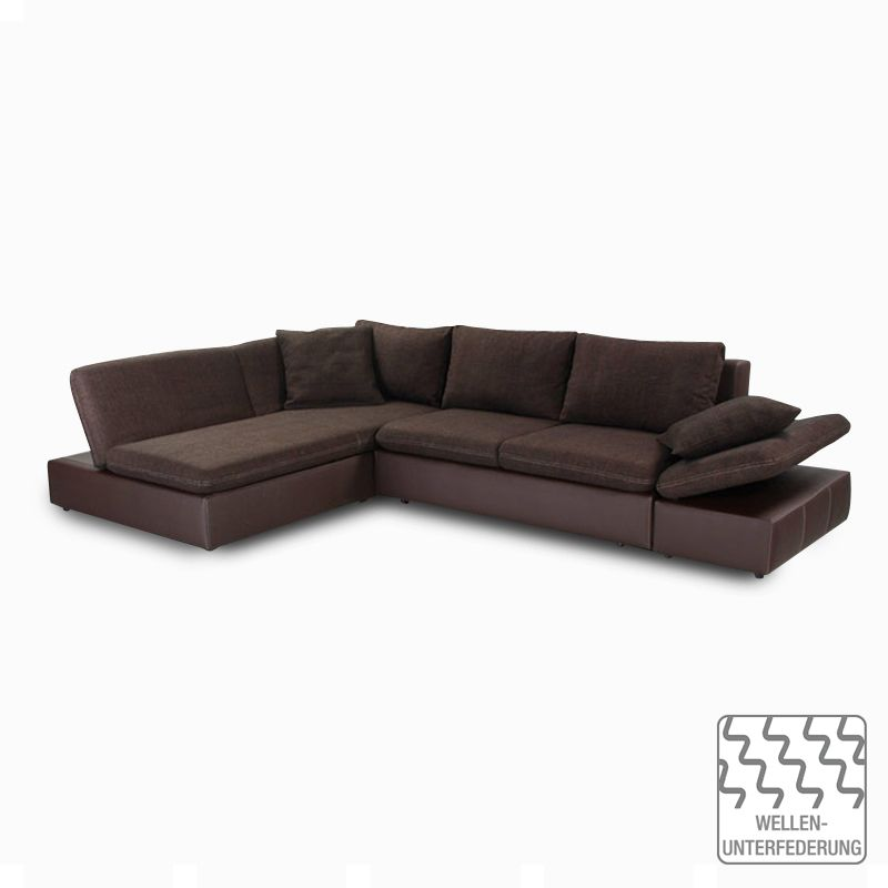 ecksofa split mit schlaffunktion kunstleder strukturstoff braun home design g nstig kaufen. Black Bedroom Furniture Sets. Home Design Ideas