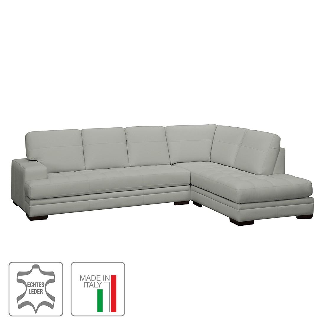 ecksofa trapuntato echtleder longchair ottomane davorstehend rechts grau trend italiano. Black Bedroom Furniture Sets. Home Design Ideas
