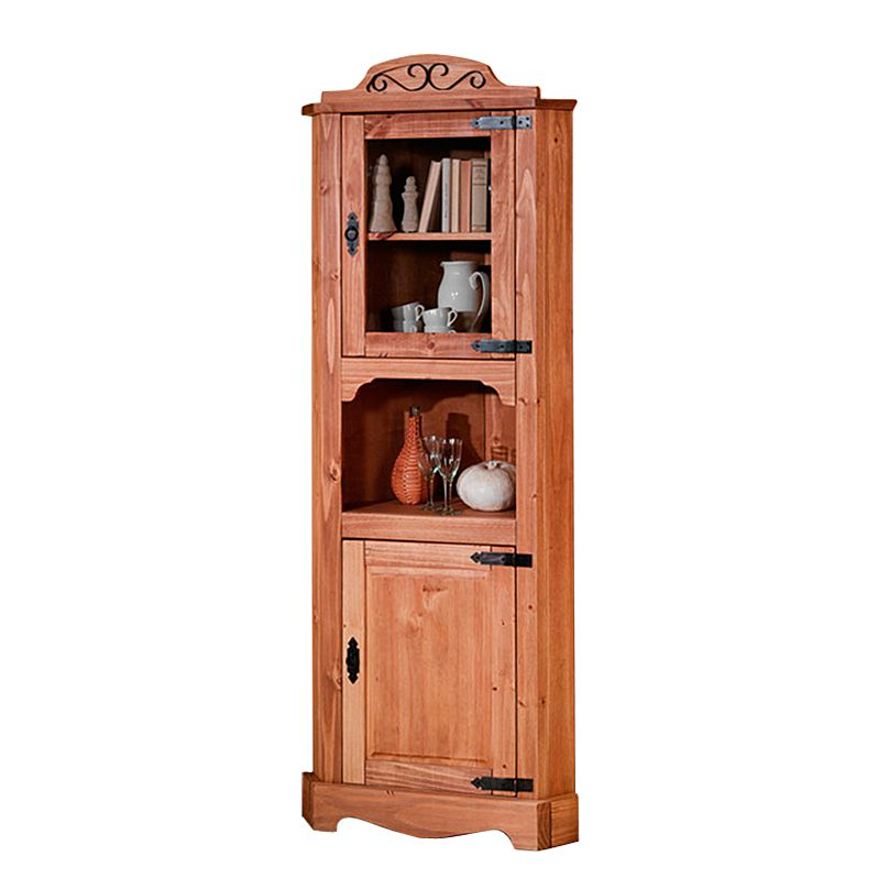 Eckvitrine Zacateca – Kiefer massiv – Antik, Landhaus Classic online bestellen