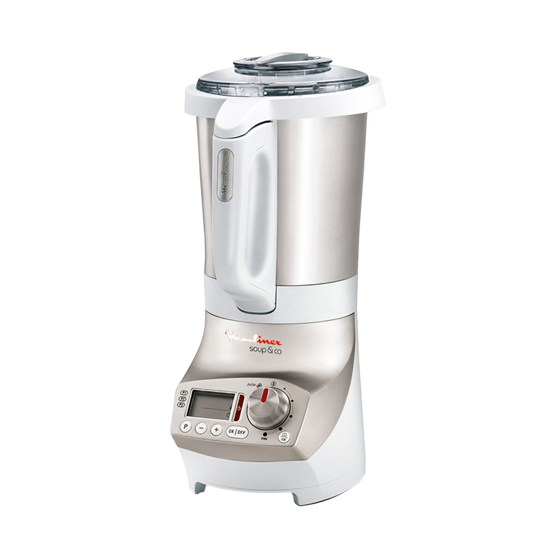 Edelstahl Kochmixer Soup & Co 2,8 l – Edelstahl Silber-Weiß, Moulinex günstig kaufen