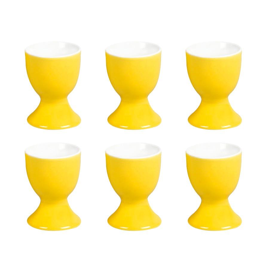 eierbecher doppio 6er set porzellan gelb flirt by r. Black Bedroom Furniture Sets. Home Design Ideas