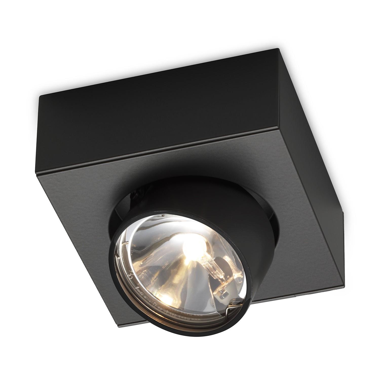 Einzelstrahler Wittenberg wi-ab-125-1e ● Aluminium- pulverbeschichtet ● Schwarz- Mawa Design