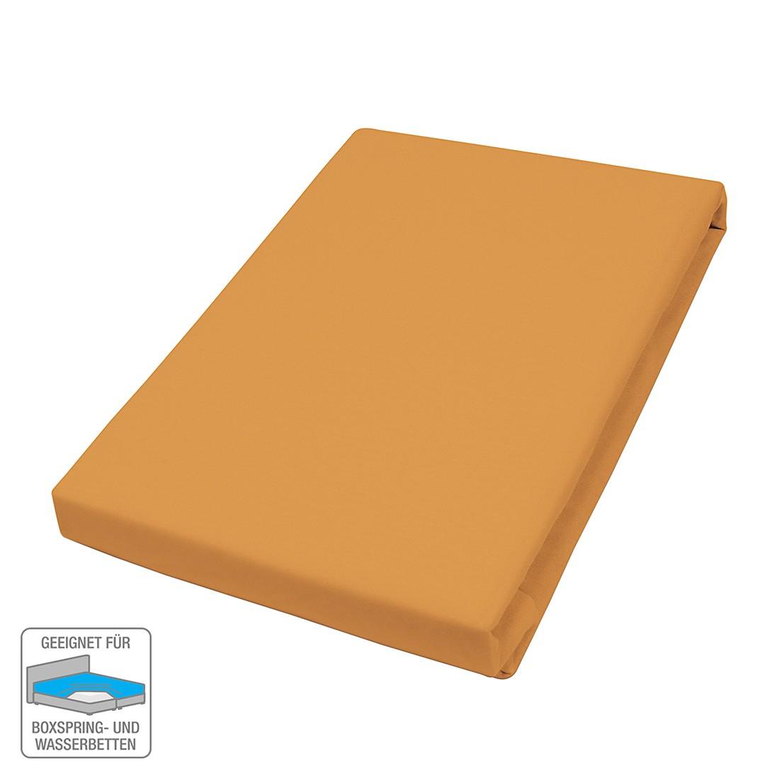 elastan feinjersey spannbetttuch orange 180 200 x 200. Black Bedroom Furniture Sets. Home Design Ideas
