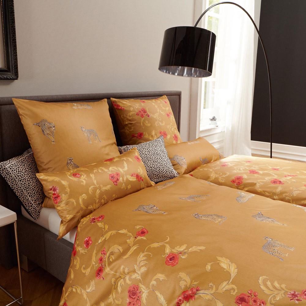 elegante mako satin bettw sche gepardo gold 100. Black Bedroom Furniture Sets. Home Design Ideas