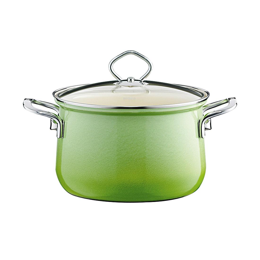Emaille Fleischtopf Smaragd – Emaille Grün – 16 cm 1,5 Liter, Riess günstig online kaufen