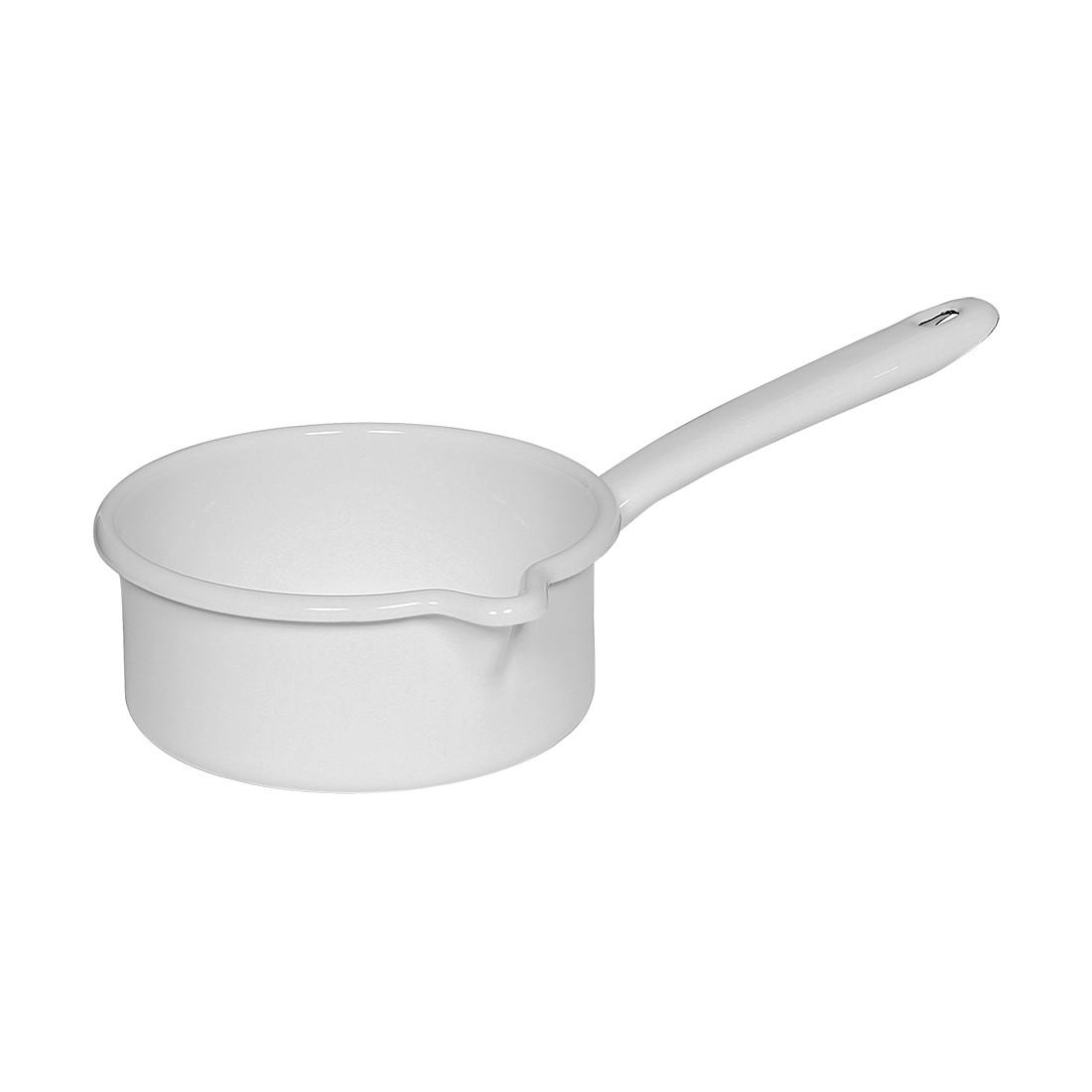 Emaille Stielkasserolle Classic – Emaille Weiß – 0,75 Liter, Riess jetzt kaufen
