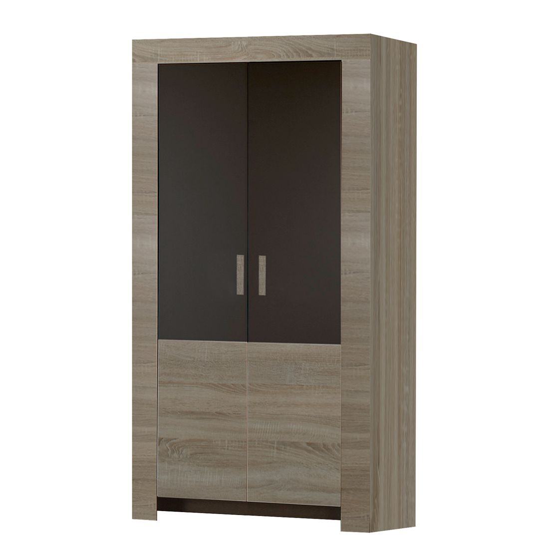 kleiderschrank emma eiche grau 2 t rig schrank. Black Bedroom Furniture Sets. Home Design Ideas