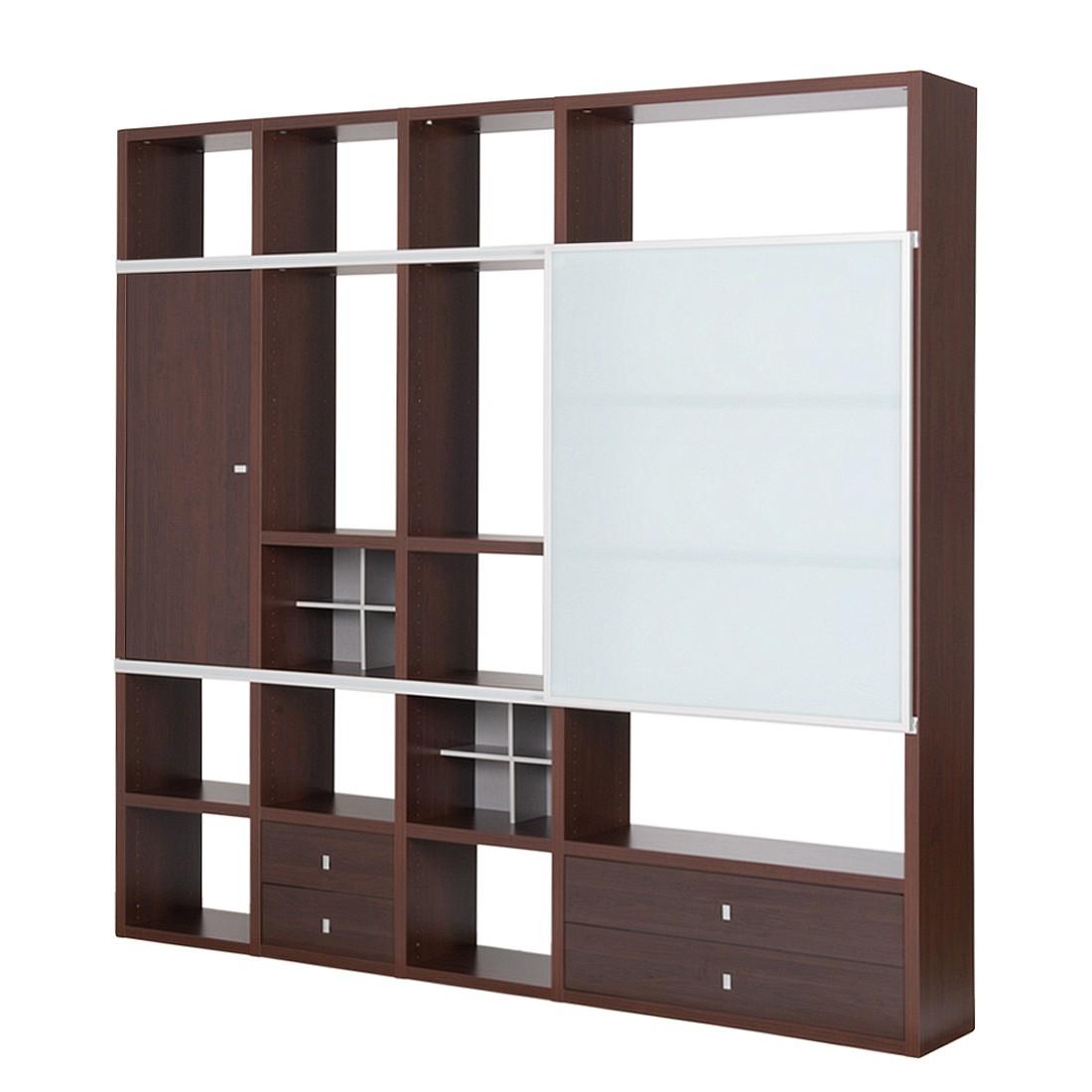 wohnwand mit schiebet r preisvergleiche. Black Bedroom Furniture Sets. Home Design Ideas