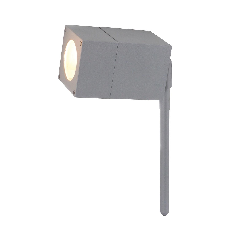 EEK A++, Energiespar-Außenerdspieß 1-flammig - Silber Aluminium, Näve