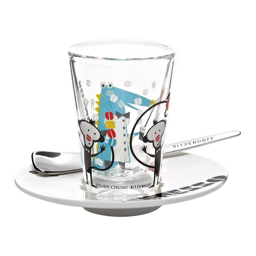 Espressoglas doppelwandig mit Untertasse Bacino – 70 ml – Design Julien Chung – 2012 – 2600010, Ritzenhoff online bestellen