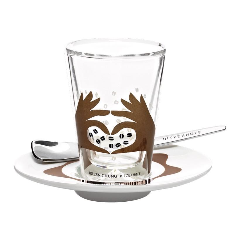 Espressoglas doppelwandig mit Untertasse Bacino – 70 ml – Design Julien Chung – 2012 – 2600011, Ritzenhoff online kaufen