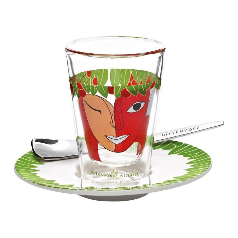 Espressoglas doppelwandig mit Untertasse Bacino – 70 ml – Design Petra Mohr – 2012 – 2600014, Ritzenhoff günstig online kaufen