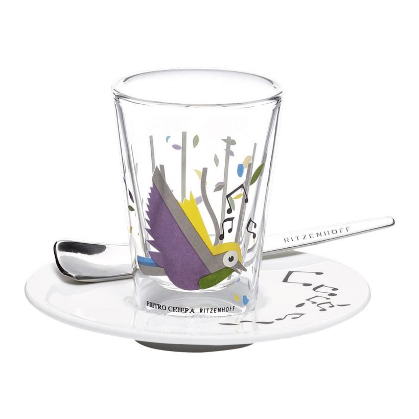 Espressoglas doppelwandig mit Untertasse Bacino – 70 ml – Design Pietro Chiera – 2011 – 2600002, Ritzenhoff online bestellen