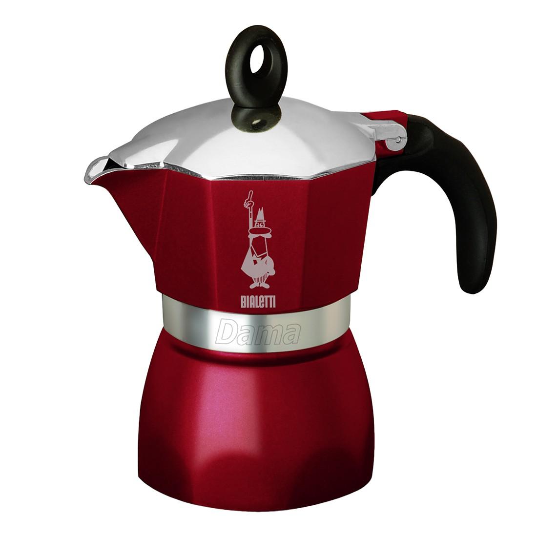 Espressokocher Dama Glamour – Bordeaux, 3 Tassen – Espressokocher Dama Glamour – bordeaux, 3 Tassen, Bialetti bestellen