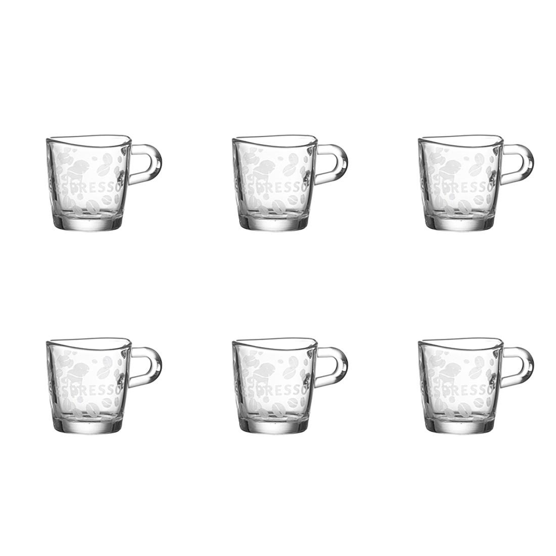Espressotasse Loop (6er-Set) – Satiniert, Leonardo kaufen
