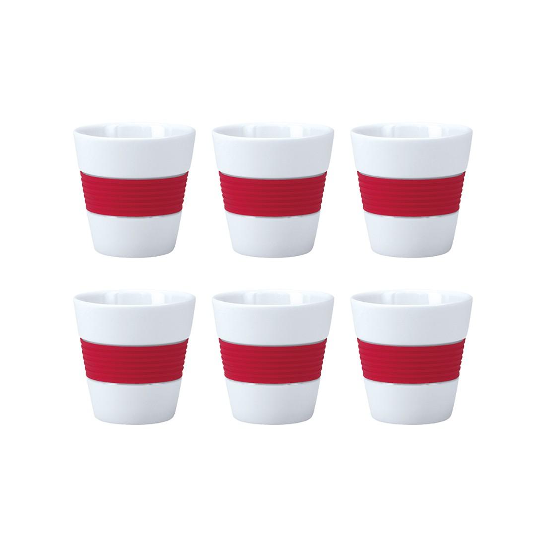 Espressotassen Sunny (6er-Set) – rot, Contento günstig kaufen