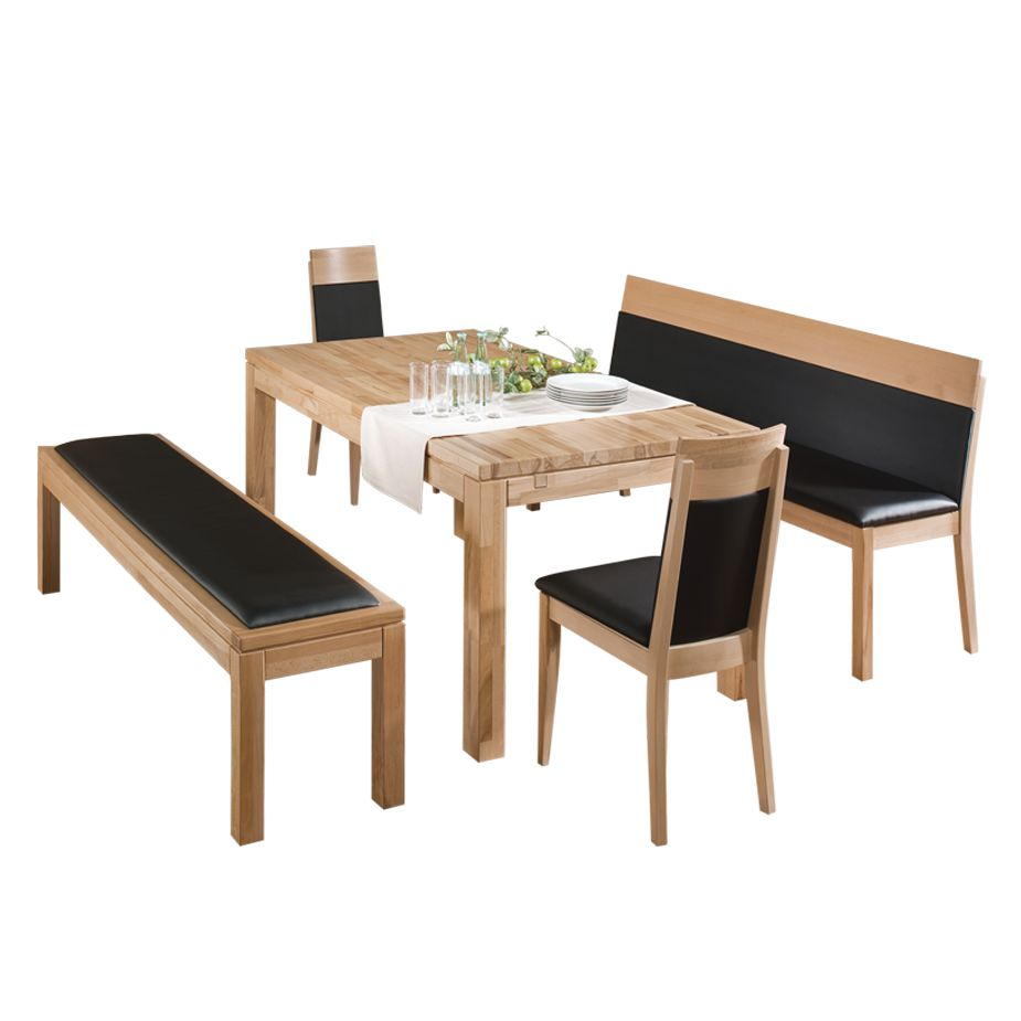 bank mit lehne 180 lederbank weiss charly g nstig kaufen. Black Bedroom Furniture Sets. Home Design Ideas