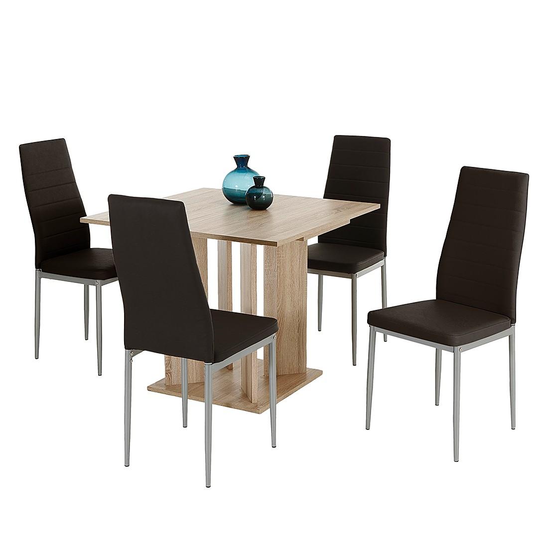 Essgruppe Esens (5-teilig) – Braun/Eiche Dekor, Home Design jetzt bestellen