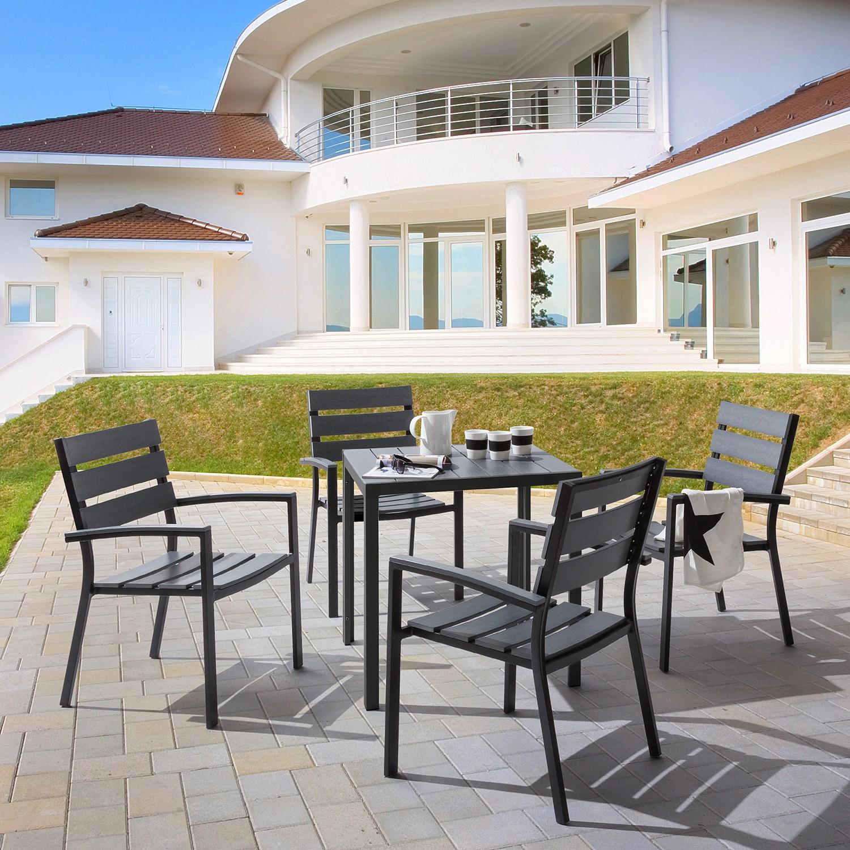 Essgruppe Montego VI (5-teilig) - Polywood / Aluminium, Kings Garden
