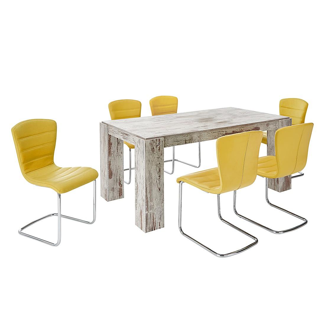 Essgruppe Wido II (7-teilig) – Vintage Weiß / Gelb, Home Design jetzt bestellen